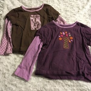 Two Carters Long Sleeve Shirts